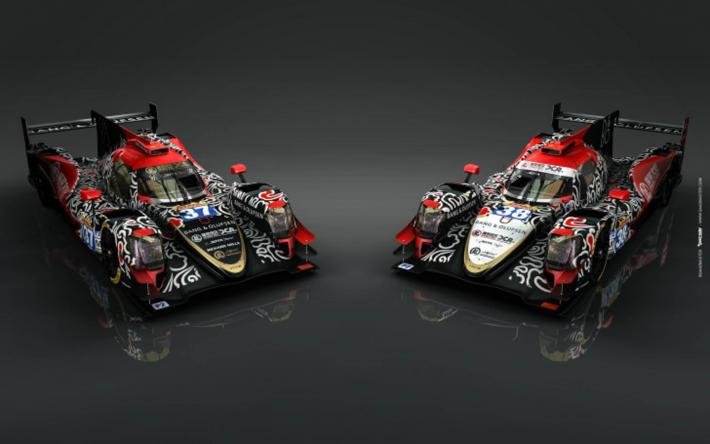 A Chinese-inspired livery for Jackie Chan DC Racing's two Oreca LM P2s