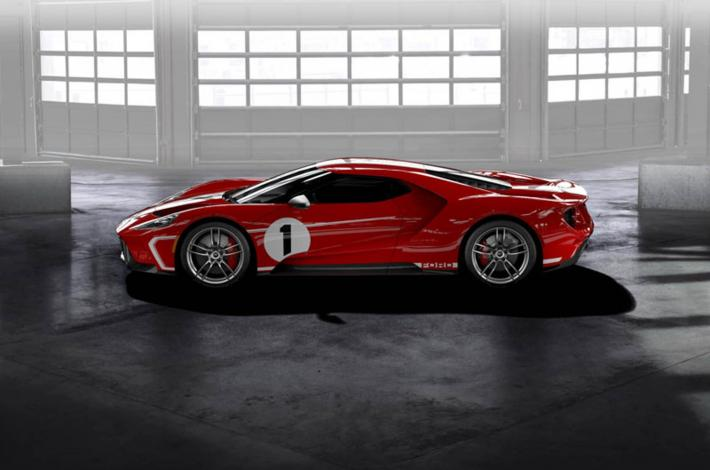 Tribute to the victory at the 24 Hours of Le Mans for the Ford GT '67 Heritage
