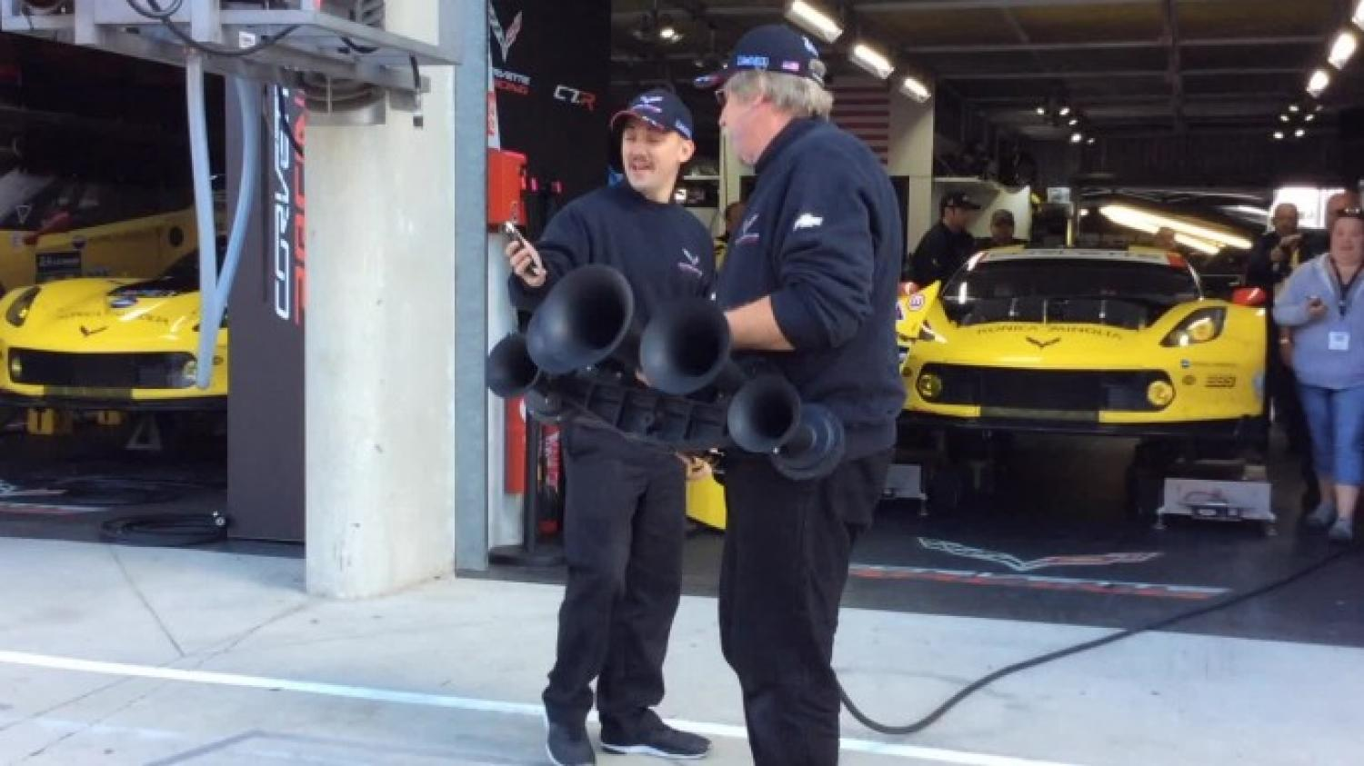 Corvette Racing blasts the lunchtime horn!