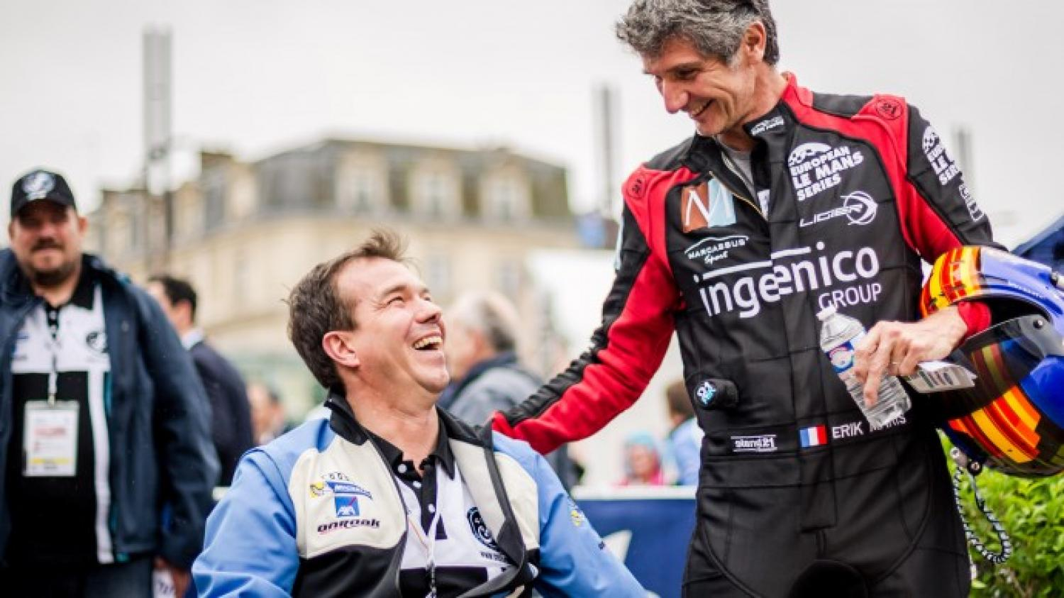 Frédéric Sausset revels in his success at the 24 Hours of Le Mans