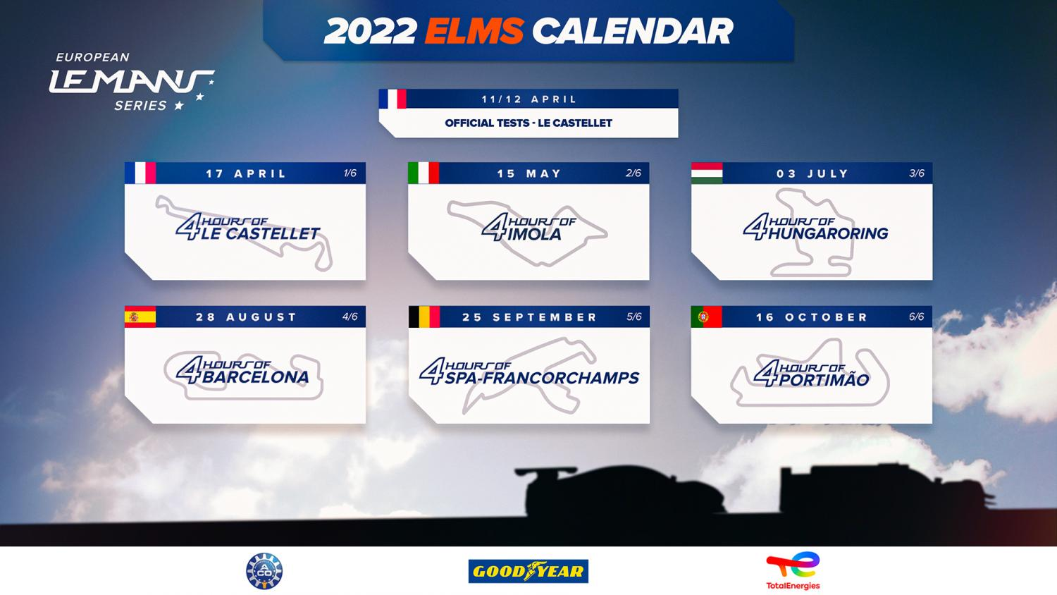 ELMS – Two circuits back on the calendar in 2022   24h-lemans.com