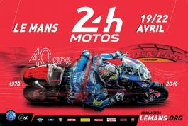 2018 24 Heures Motos - An eye-catching poster!