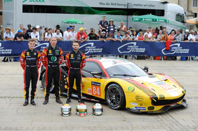 JMW Motorsport (Ferrari) drivers discuss their LMGTE Am win this year at Le Mans