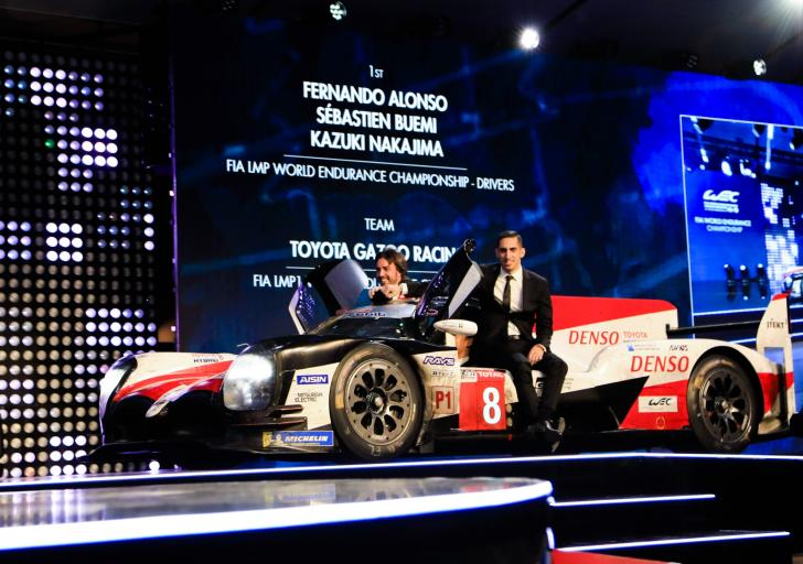 FIA Prize-Giving – Alonso-Buemi-Nakajima: two Le Mans wins and a world title