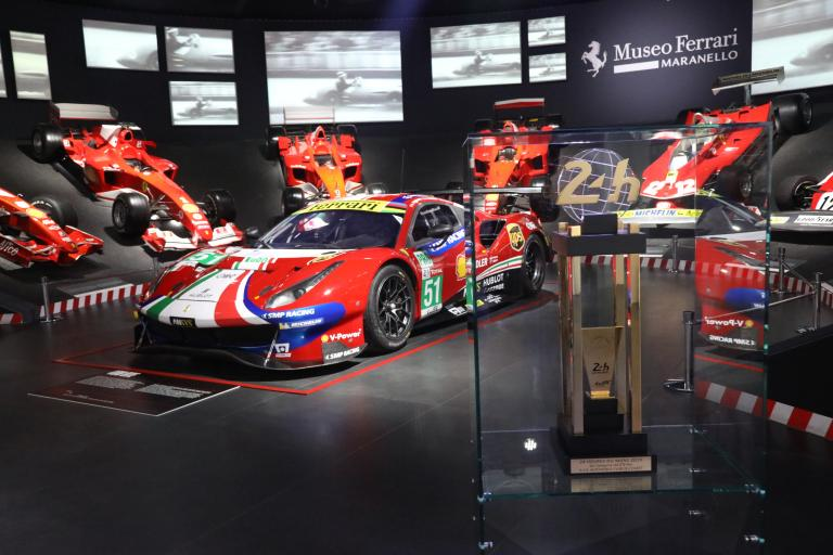 The 24 Hours of Le Mans take pride of place at the Ferrari Museum