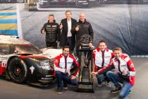 The 24 Hours of Le Mans trophy now on display at the Porsche Museum