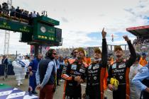 Reactions from the LMP2 class winners at the 2018 24 Hours of Le Mans