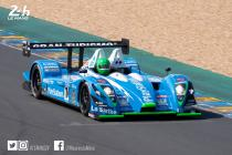 Henri Pescarolo takes the wheel of a Pescarolo prototype ahead of the Le Mans Classic