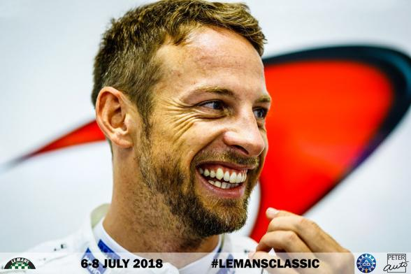 Jenson Button on the Le Mans Classic grid this July