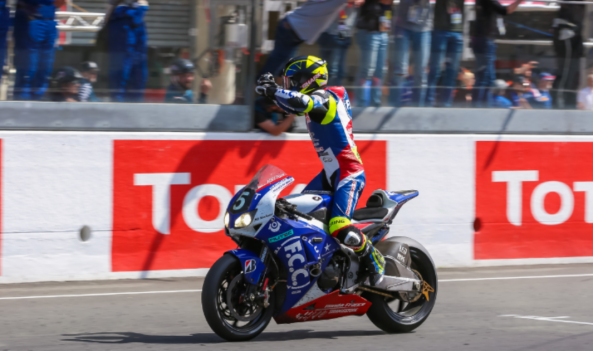 F.C.C TSR Honda France wins the 40th anniversary race!