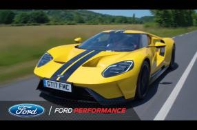 Ken Block, extreme sports champion, tests the road Ford GT at Le Mans (video)