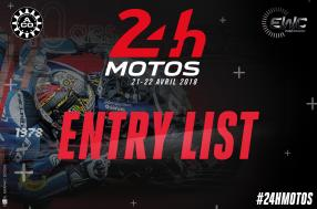 2018 24 Heures Motos - The entry list unveiled
