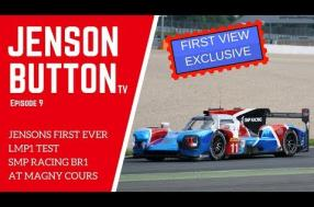 "Jenson Button ""mighty impressed"" with the SMP Racing BR1 he'll be driving at Le Mans"