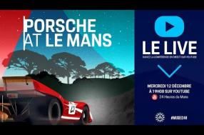 "Watch the conference from the ""Porsche at Le Mans"" exhibition live"