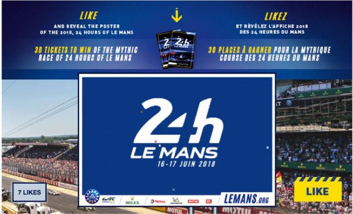 24 heures du mans 2018 on like aco automobile club de l 39 ouest. Black Bedroom Furniture Sets. Home Design Ideas