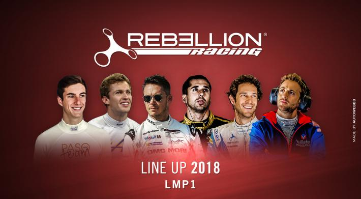 Rebellion Racing in the LMP1 class in 2018 with two previous 24 Hours of Le Mans winners