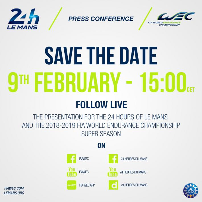 9th February: Follow the presentation for the 24 Hours of Le Mans and FIA WEC