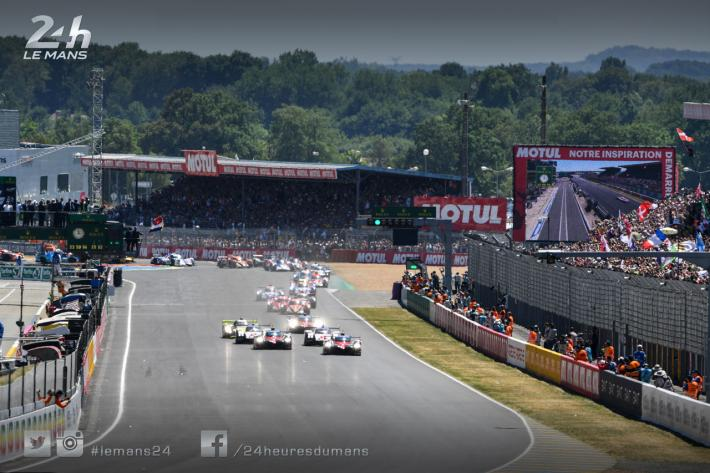 An innovation at the start on the Le Mans 24-Hours circuit