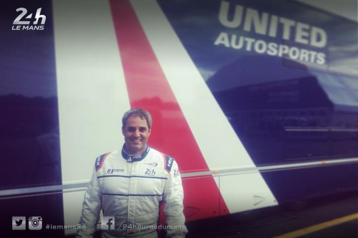 Juan Pablo Montoya's seat fitted for United Autosports' Ligier ahead of Le Mans