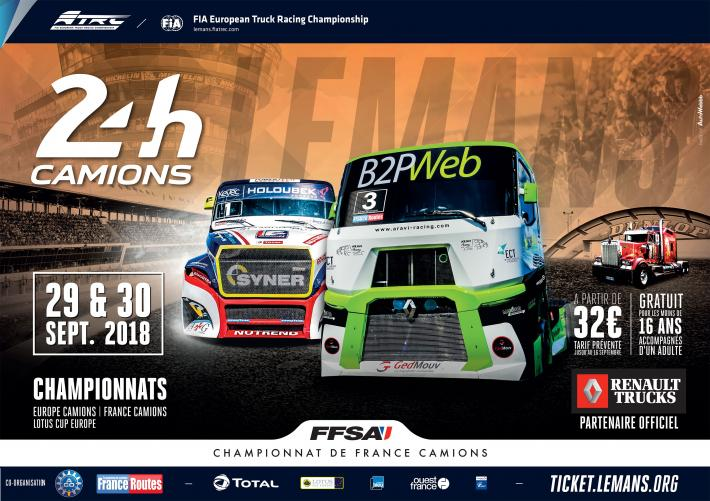 24 Heures Camions L 233 Dition 2018 S Affiche Aco