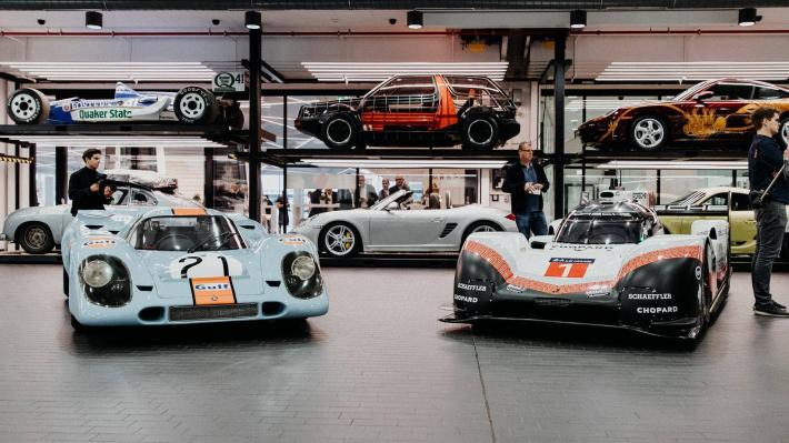The 919 Hybrid takes its place in the Porsche Museum in Stuttgart