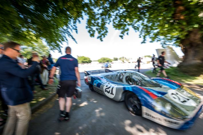 The Porsche 917 from the 24 Hours Museum at the Goodwood Festival of Speed