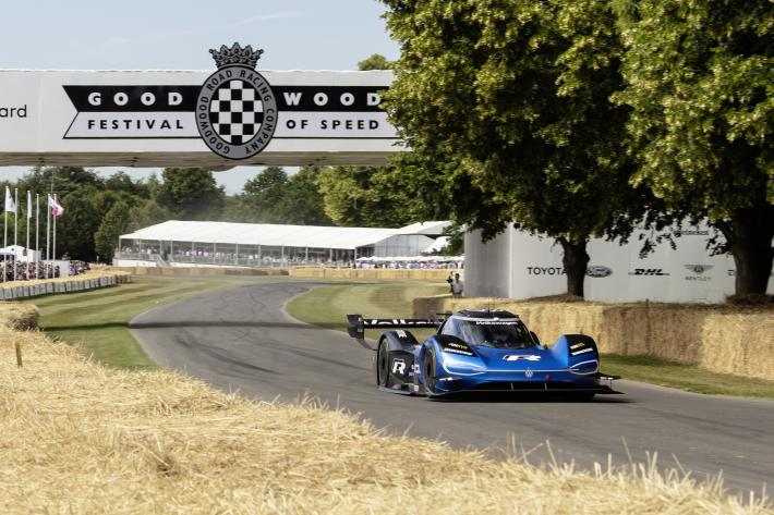Romain Dumas, fastest driver at the Goodwood Festival of Speed