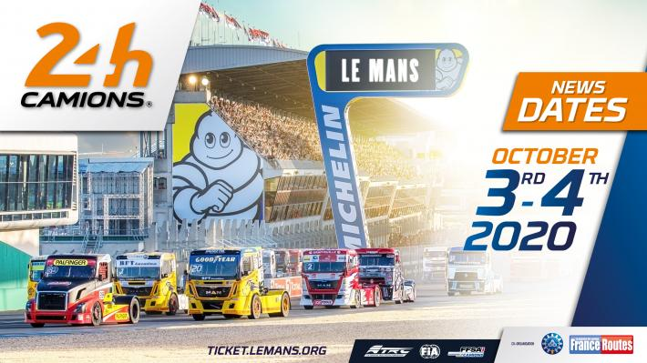 Le Mans 24 Hours Camions International Truck Race postponed to 3 - 4 October 2020