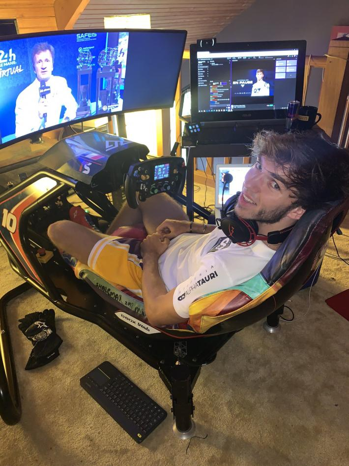 Pierre Gasly ready to go from #LeMans24Virtual to the real 24 Hours of Le Mans